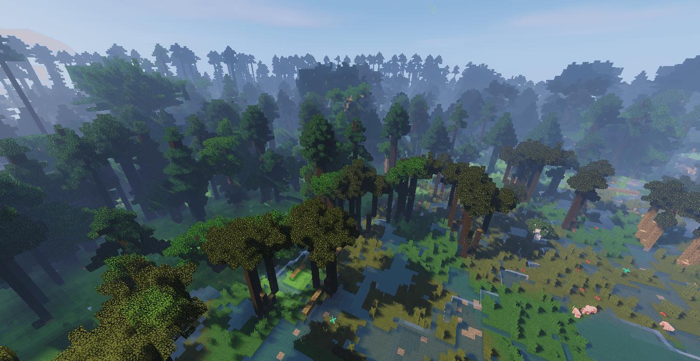 The Bialowieza forest in Minecraft