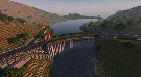 Trondheim in Minecraft