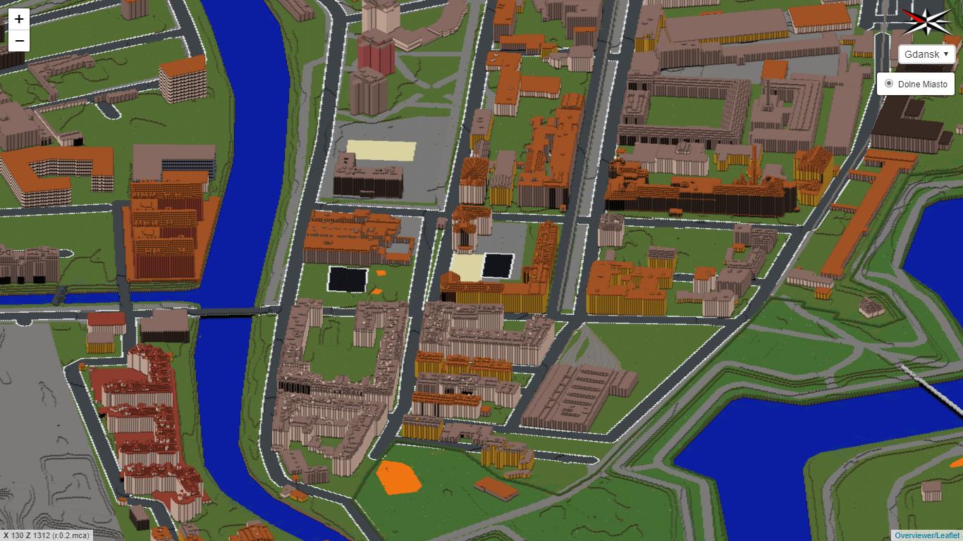 Gdansk in Minecraft