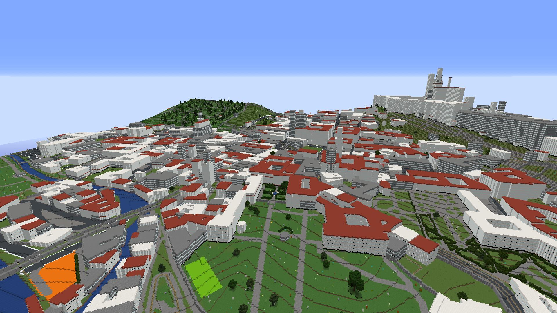 WorldBloxer Minecraft Map of Prague