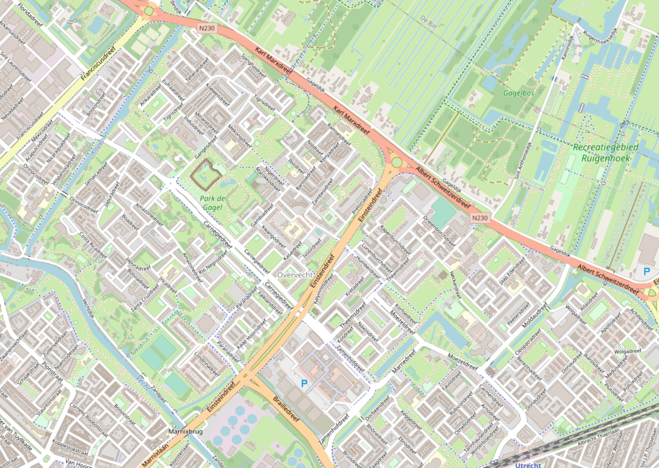 Overvecht in OpenStreetMap