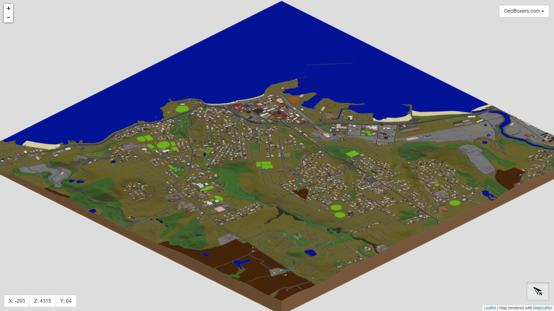 Overview of Burnie in Minecraft